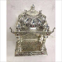 Pure Silver Oxidised Design Handicraft Pooja Items