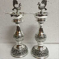 Sterling 925 Silver Oxidised Antique Pooja Article