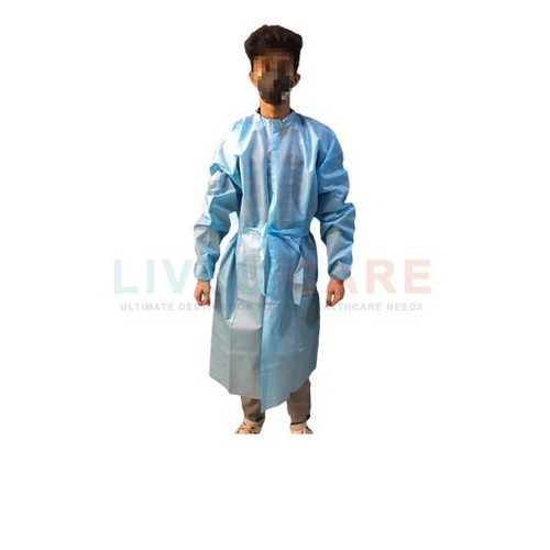 Front Opening PE Coated Disposable PP Gown