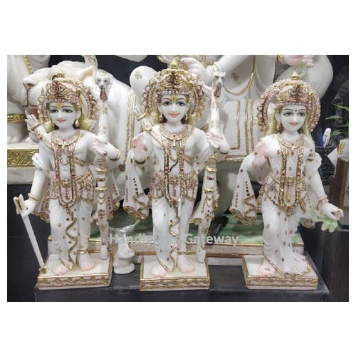 Very Antique Marble Ram Darbar Sculpture For Home Decorative