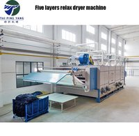 Textile finishing machinery Five Pass Warp Knit Fabric Tensionless Dryer