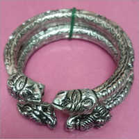 925 Silver Oxidised Men Kada