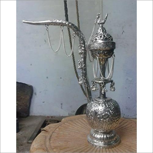 Pure Silver Oxidised Design Hookha
