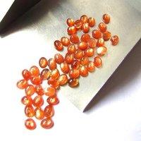 5x7mm Sunstone Oval Cabochon Loose Gemstones