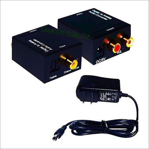 Digital To Analog Audio Converter DIF Optical Coax To Analog RCA 2.1 Stereo Audio Converter Adapter