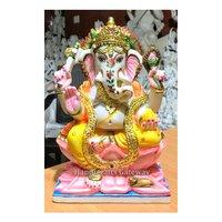 Handmade Multicolor Ganesha Idol