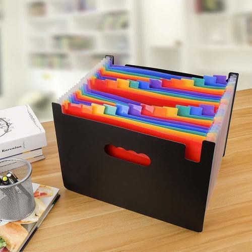 24 Pocket Rainbow Expanding Folder