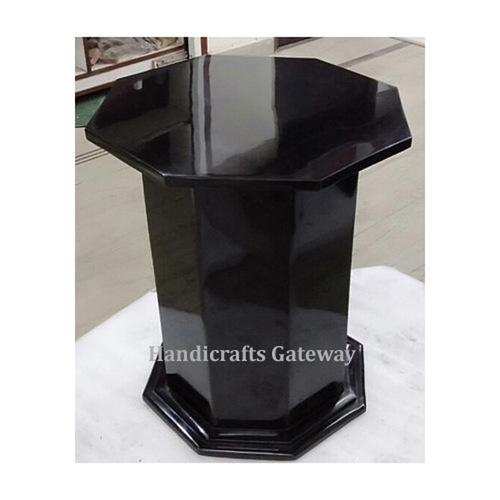Handmade Black Solid Marble Table Base / Stand