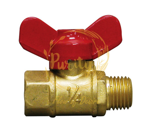 brass forged butterfly valve 1by4 inch
