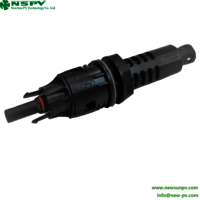 High Quality Metallic Material 50A Solar Panel Pv In-line Fuse Connector Female End