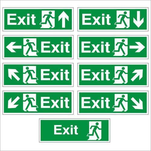 Fire Safety Exit Signage