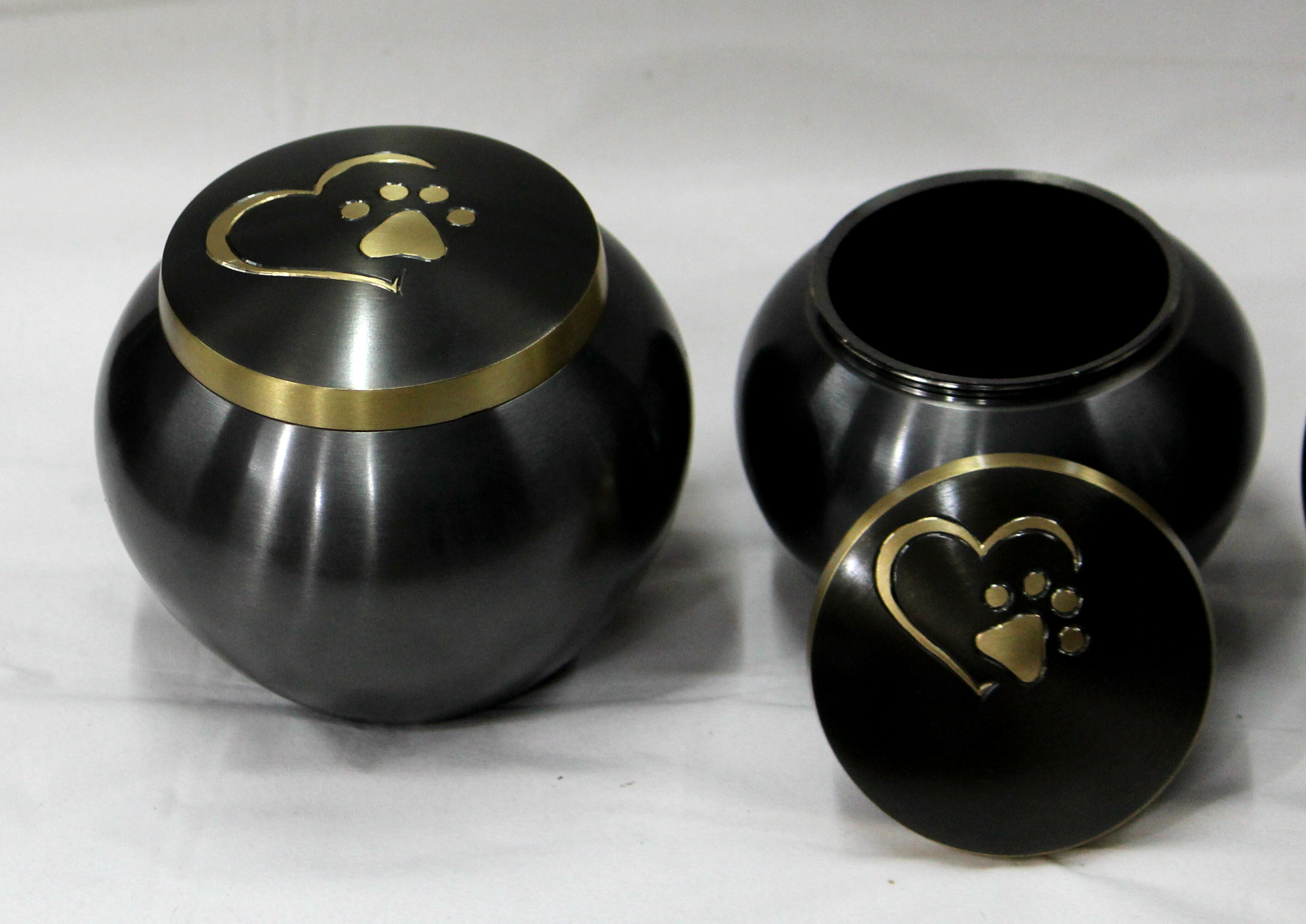 Heart and Paw Print Urn