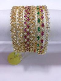 Designer American Diamond Bangles