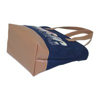 Inside Polyester Lining With PU Handle 12 OZ Dyed Canvas Tote Bag