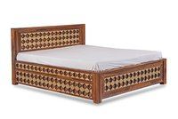 Wooden Engraved Double Bed