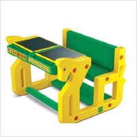 Kids Play School Double Desk Bench