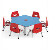 Play School Table With 6 Chair