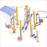 Outdoor Gym Six Station Open Multigym Machine