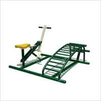 Outdoor Gym Sit Up Board and Horse Rider