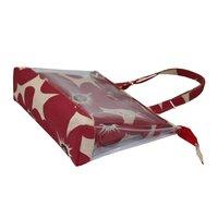 Designer Floral Print See Through PVC Juco Tote Bag