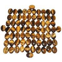 5x7mm Tiger Eye Oval Cabochon Loose Gemstones