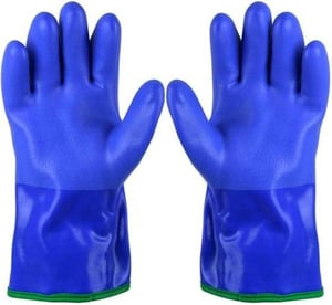 Customized Pvc Dotted Gloves Point Plastic Gloves Dispensing Yellow Blue