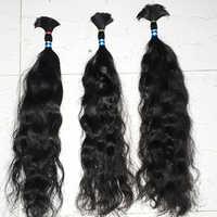 Bulk Wavy Natural Color Hair