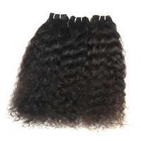 Indian Curly Machine WEFT Natural Color Hair