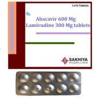 Abacavir 600 Mg + Lamivudine 300 Mg Tablets
