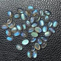 6x8mm Labradorite Oval Cabochon Loose Gemstones