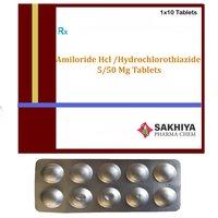 Amiloride Hcl 5mg + Hydrochlorothiazide 50mg Tablets