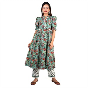 Ladies Frock Kurti With Palazzo Suit