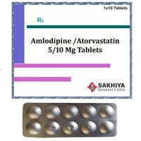 Amlodipine 5mg + Atorvastatin 10mg Tablets