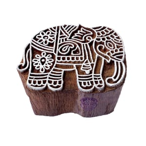Elephant Animal Wooden Block Printing Stamps