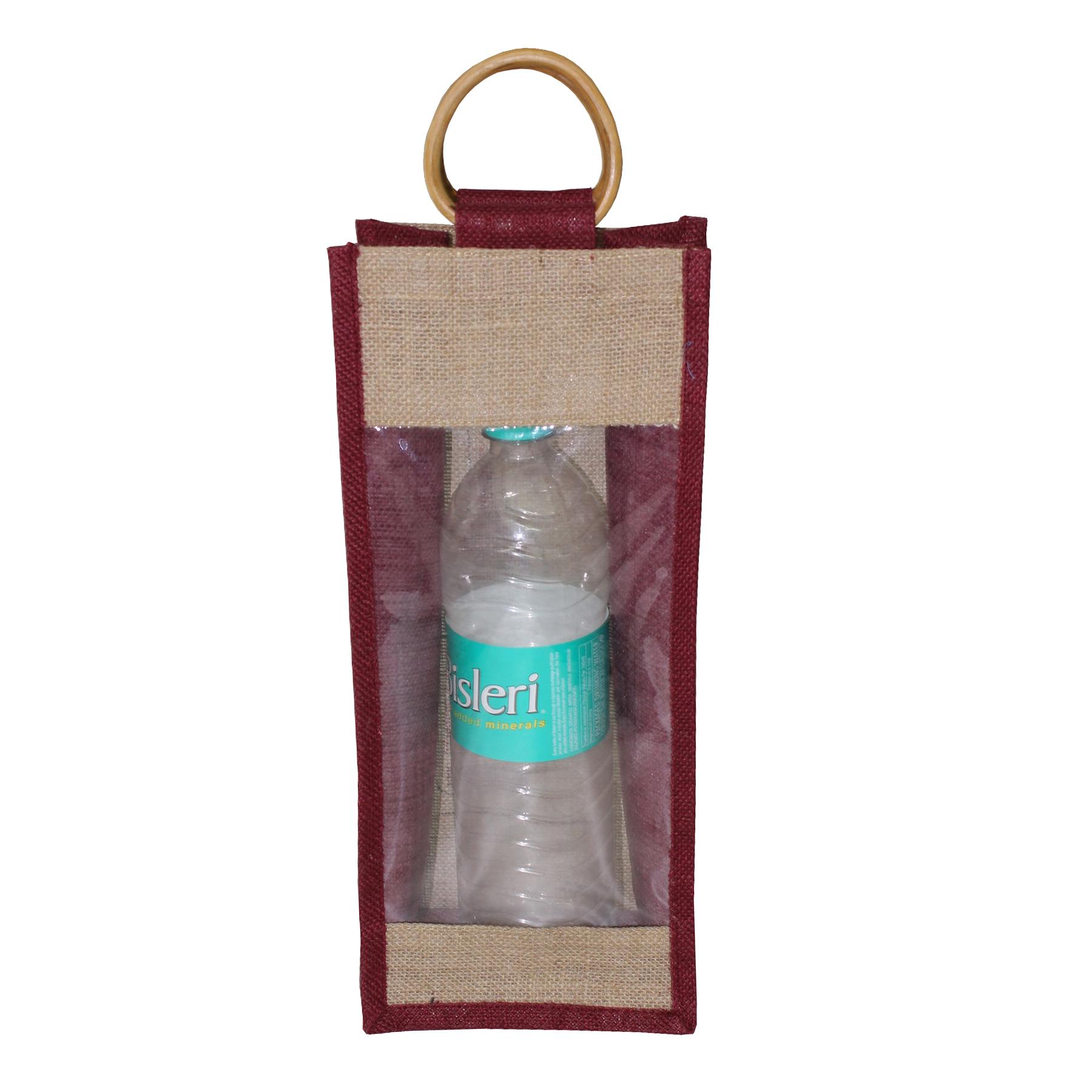 PP Laminated One Bottle Jute Bag