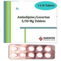 Amlodipine 5mg + Losartan 50mg Tablets