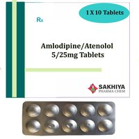 Amlodipine 5mg + Atenolol 25mg Tablets