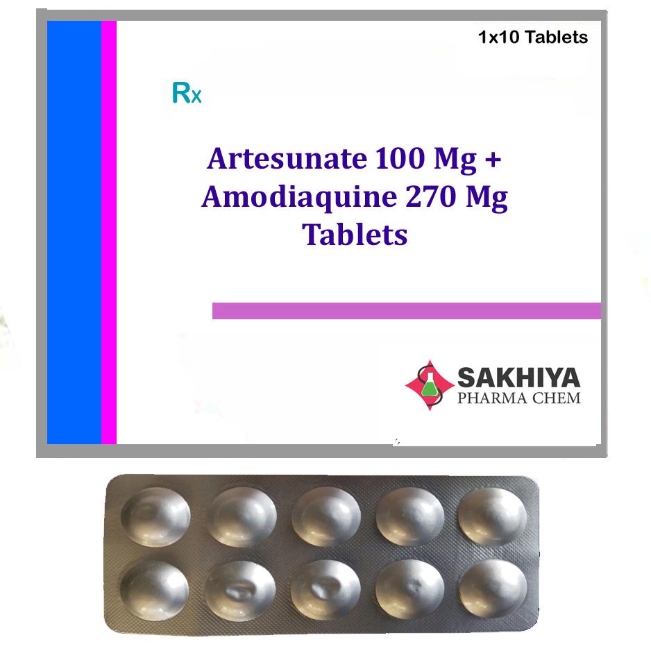 Artesunate 100mg + Amodiaquine 270mg Tablets