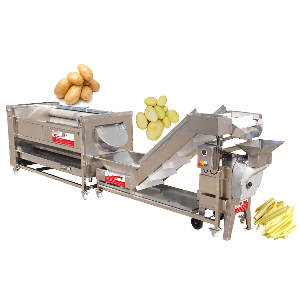 Full Automatic Vegetable And Fruit Washing Line