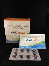 Co-enzyme Q10,l Carnitine Omega-3 Fatty Acids Selenium Soft Gel Capsules