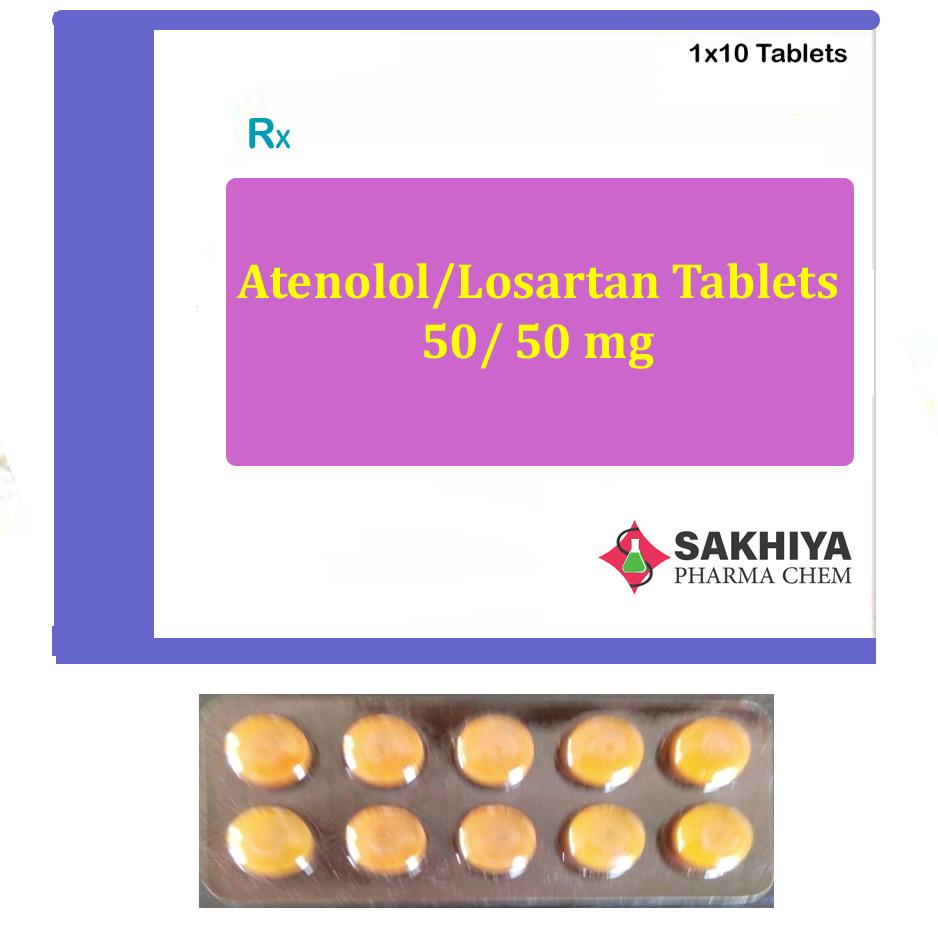 Atenolol 50mg + Lostartan 50mg Tablets