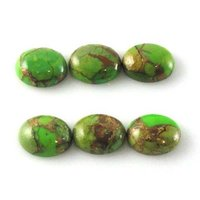9x11mm Green Copper Turquoise Oval Cabochon Loose Gemstones