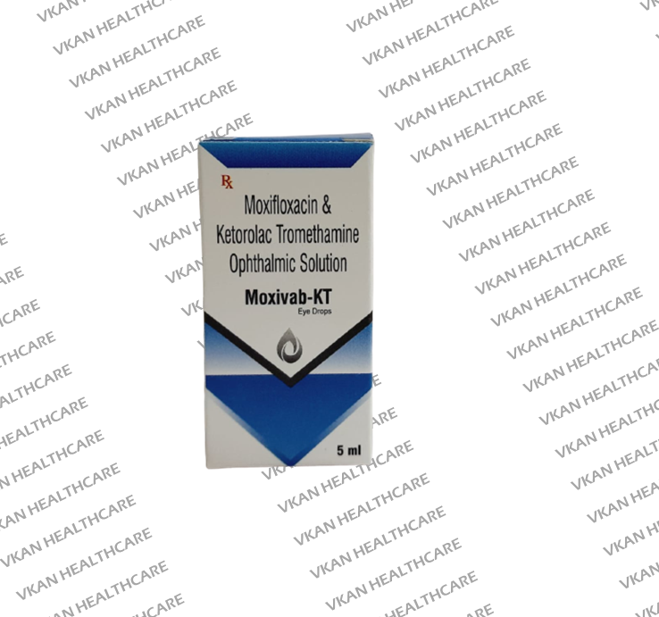 Ketorolac Tromethamin + Moxfloxacin Hydrochloride Eye Drops