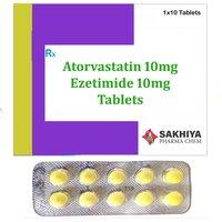 Atorvastatin 10mg + Ezetimide 10mg Tablets