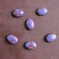 4x6mm Purple Copper Turquoise Oval Cabochon Loose Gemstones