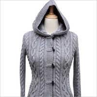 Ladies Grey Woolen Cardigan