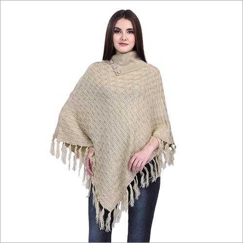 Ladies Plain Woolen Poncho