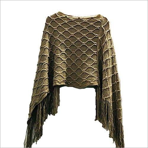 Ladies Designer Woolen Poncho