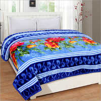 Double Bed Floral Print Mink Blankets