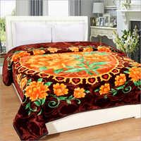 Floral Print Mink Blankets